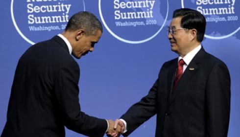 Presiden Obama dan Presiden Hu Jianto